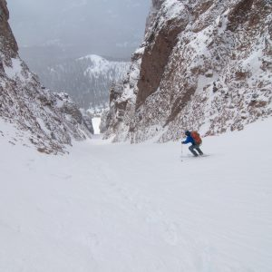 The Diagonal Couloir on Pinnacle Butte in Wyoming's Absaroka Range