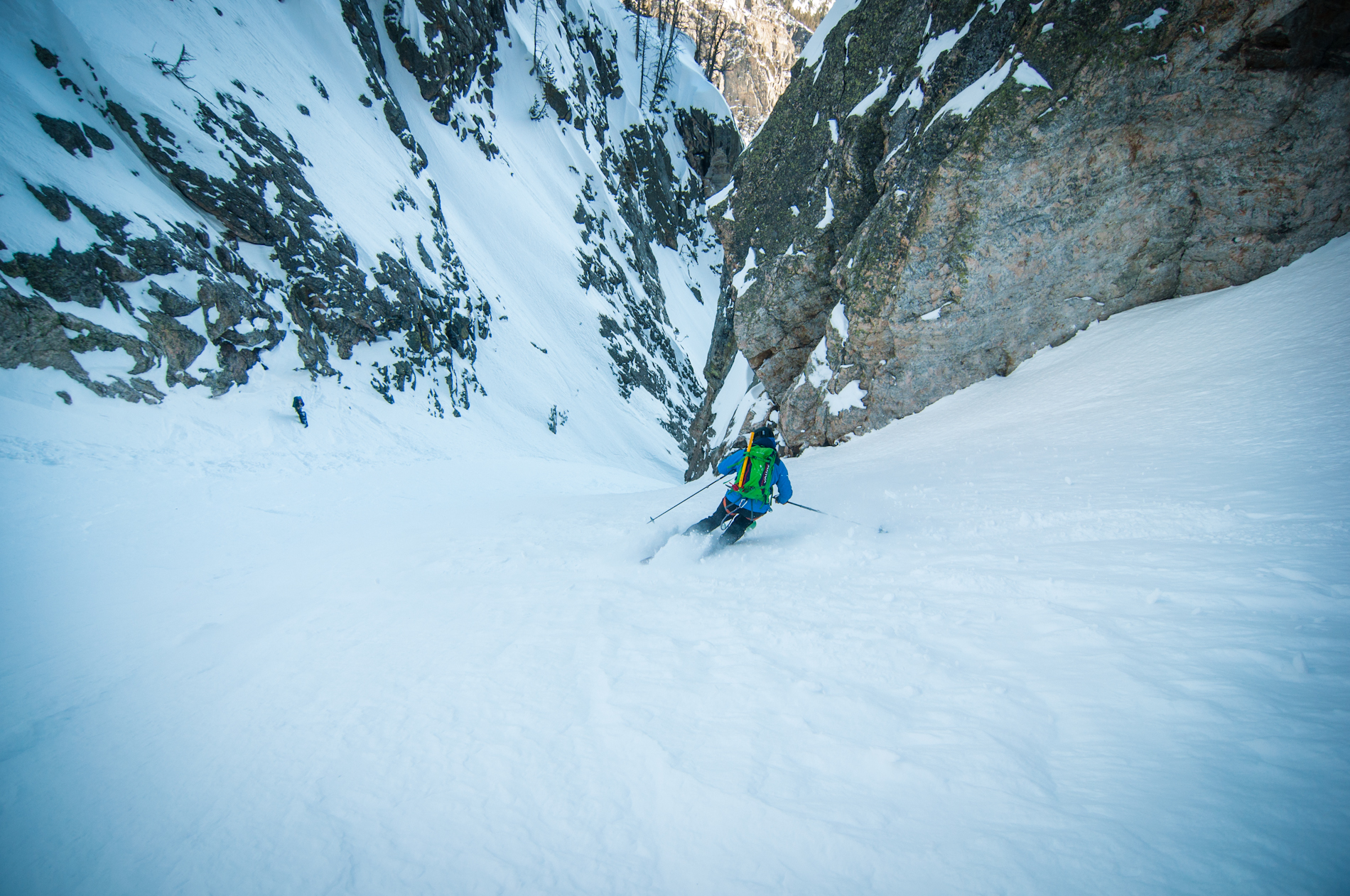 Grand Teton National Park and Prospector Mountain's Apocalypse Couloir