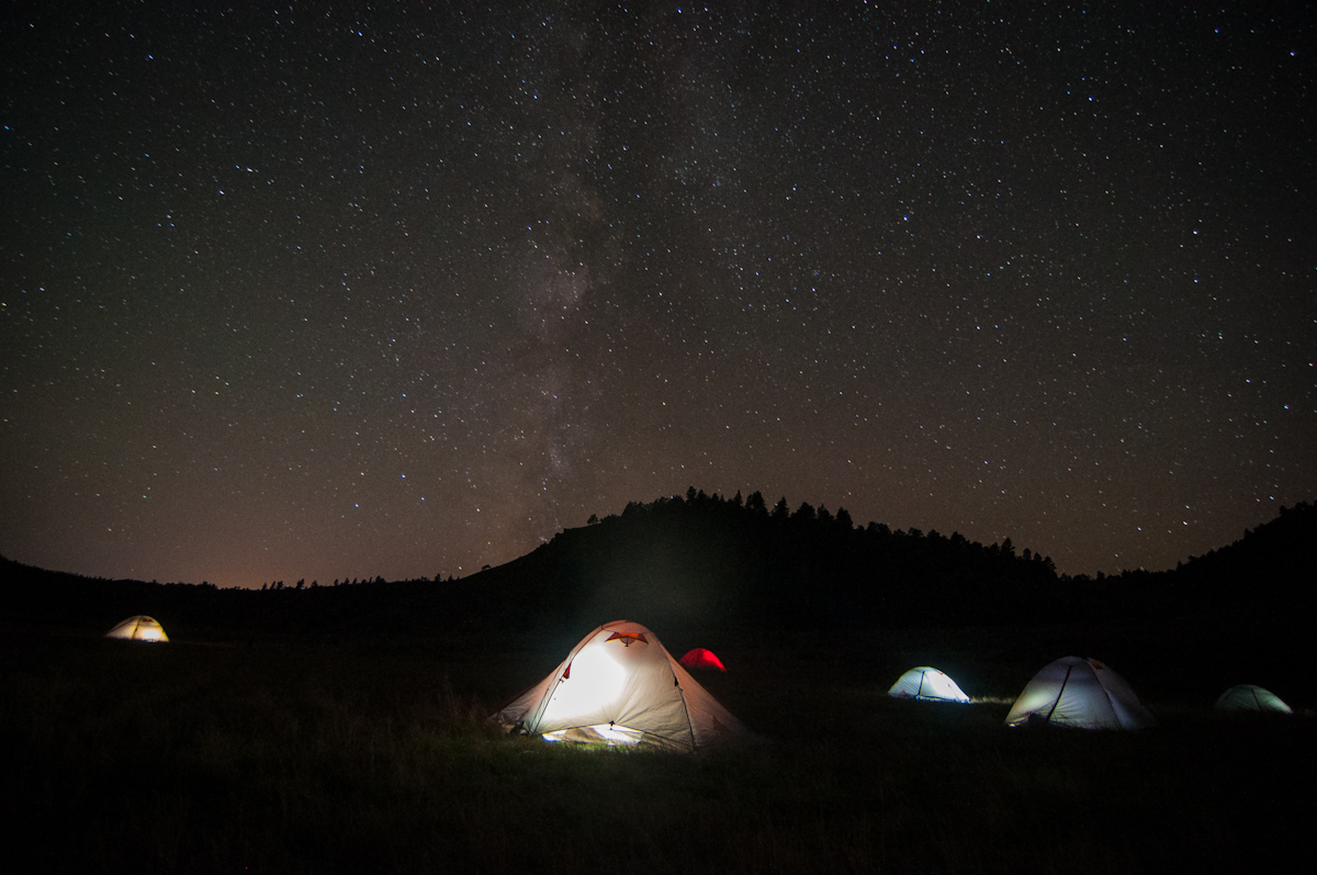 Milky Way over campsite on Montana's Tongue River
